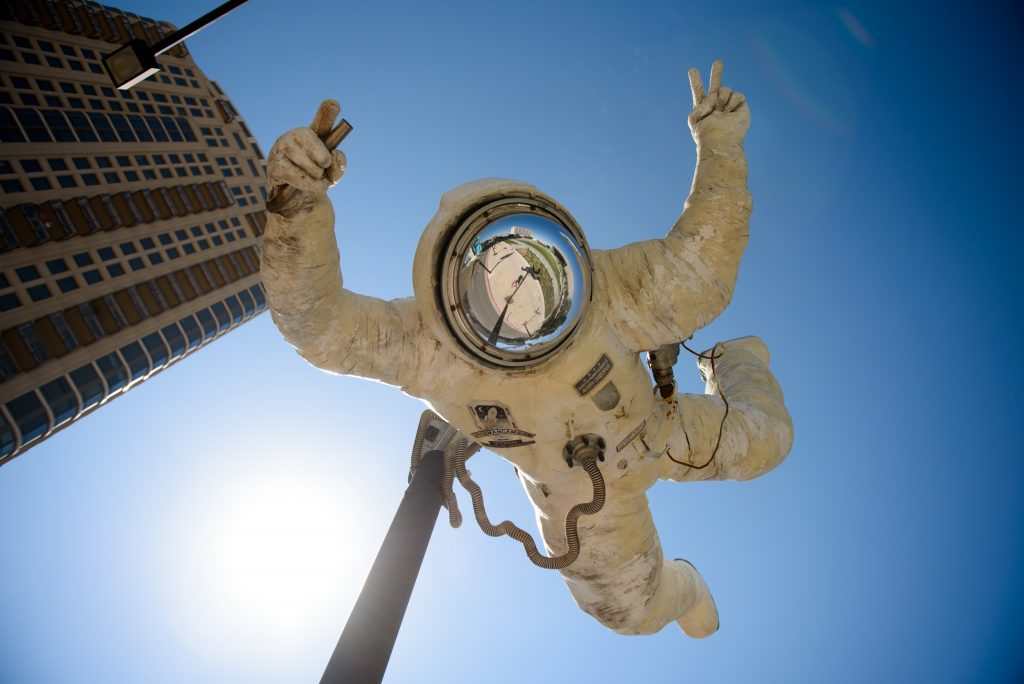 astronaut art installation salt lake city