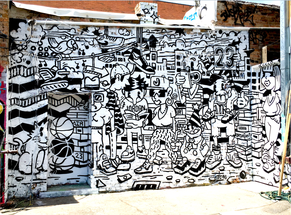 Call's mural located behind FICE Gallery (160 E. 200 South).