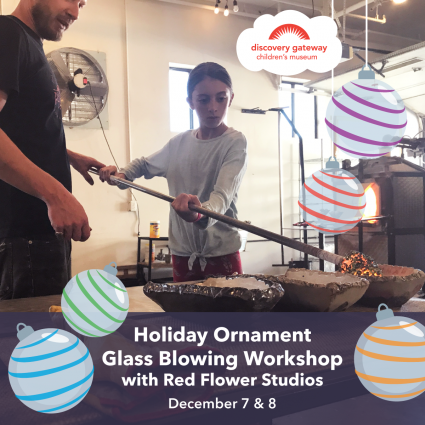 Holiday Ornament Glass Blowing Workshop with Red Flower Studios