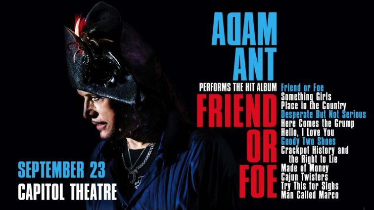 Adam Ant: Friend or Foe Tour