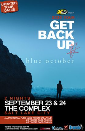 X96 Presents Blue October @ The Complex- RESCHEDULED